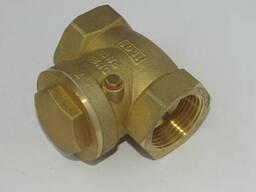 Клапан обратный поворотный муфтовый латунный Ру16 Ду20 в Кит