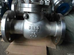 Клапан обратный поворотный нержавеющий CF8 19нж53нж Ру16 Ду8