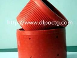 Красный пластмассовый пвх внутренняя внешняя резьба трубы - фото 1
