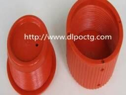 Красный пластмассовый пвх внутренняя внешняя резьба трубы - фото 2