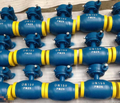 Q361F-Кран шаровой цельносварной под приварку Ру25 Ду150 низ