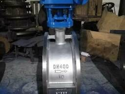 Затвор дисковый поворотный фланцевый AISI304 Ру10 Ду400
