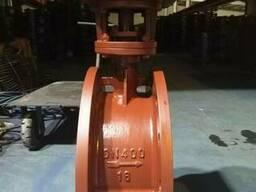 Затвор дисковый поворотный из холодной стали Ру16 Ду400