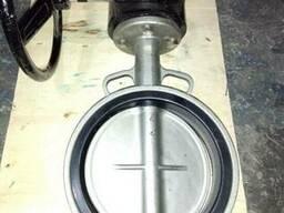 Затвор дисковый поворотный межфланцевый нержавеющий Ру16 Ду2