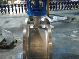 Затвор дисковый поворотный нержавеющий Ру16 Ду400 редуктор