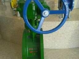 Затвор дисковый поворотный стальной фланцевый Ру16 Ду200