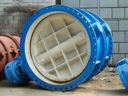 Затвр дисковый поворотный фланцевый с редуктором