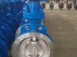 D373H-Затвор дисковый поворотный межфланцевый стальной с мет