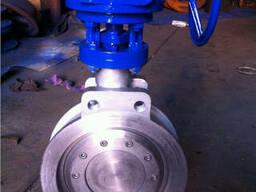 D373W-Затвор дисковый поворотный нержавеющий межфланцевый с - фото 1