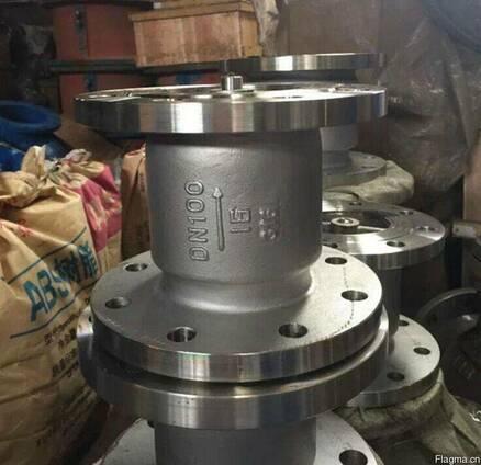 Клапан обратный вертикальный фланцевый нержавеющий Ру16 Ду10