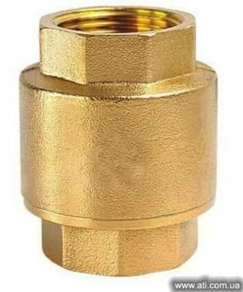 Клапан обратный вертикальный муфтовый латунный