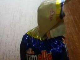 Конфеты шоколадные с молочной и ореховой начинкой