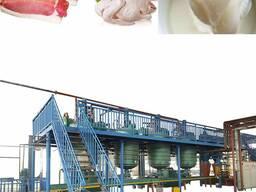 Линия для вытопки сала, животного жира в пищевой, технически