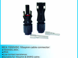 Solar MC4 connector suitable for 10sqmm cable