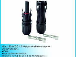 Солнечная 1500V прямой кабель кабель соответствия MC4 разъем