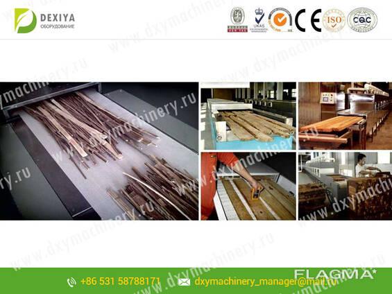 СВЧ установки для сушки бамбуков и древесин
