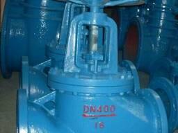 Вентиль фланцевый чугунный Ру16 Ду400, Китай