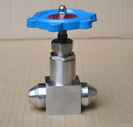 Вентиль запорный игольчатый приварной нержавеющий Ру320 Ду10