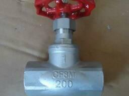 Вентиль запорный муфтовый нержавеющий AISI316 - фото 1