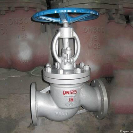 Вентиль запорный стальной 15с65нж Ру16 Ду125, Китай