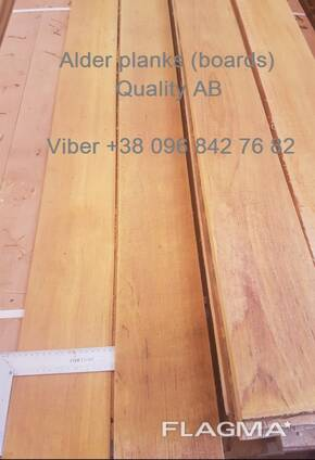 We sell sawn timber, edged planks Aspen, Alder