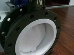 Затвор дисковый поворотный фланцевый футерованный PTFE Ру16