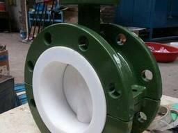 Затвор дисковый поворотный фланцевый футерованный PTFE
