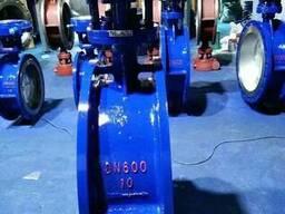 Затвор дисковый поворотный фланцевый Ру10 Ду600 редуктор