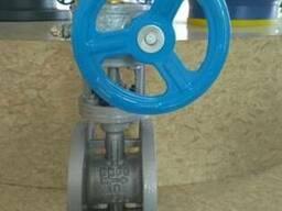 Затвор дисковый поворотный фланцевый Ру16 Ду50 с редуктором