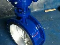 Затвор дисковый поворотный фланцевый стальной Ру10 Ду450