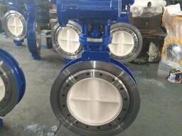 Затвор дисковый поворотный межфланцевый Ру25 Ду400 редуктор