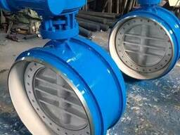 Затвор дисковый поворотный под приварку Ру16 Ду600 редуктор