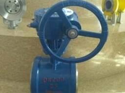 Затвор дисковый поворотный под приварку Ру25 Ду200 редуктор