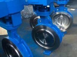 Затвор дисковый поворотный стальной Ру16 Ду200 из Китая